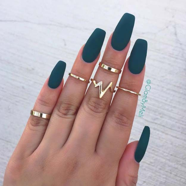 Nail Art Ideas For Coffin Nails - Jaded - Easy, Step-By-Step Design ...