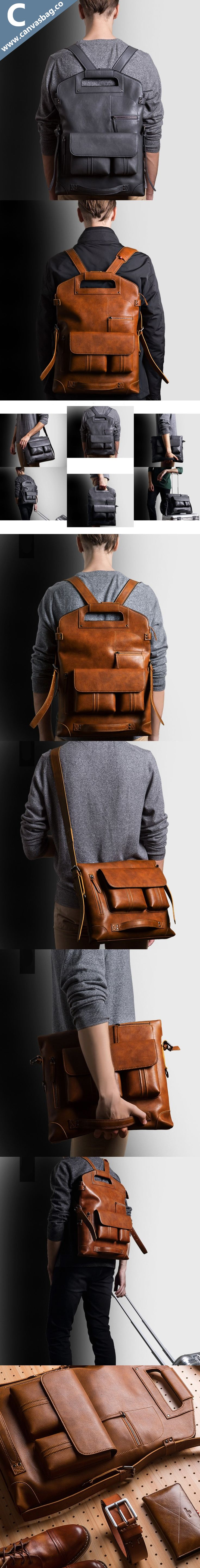 679c4436d5 Leather-Convertible-Backpack-Canvas-Bag-Leather-Bag-CanvasBag.