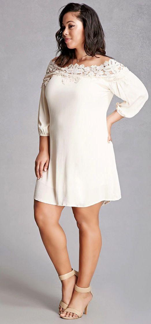 Plus Size Crochet Mini Dress Mijulastyles