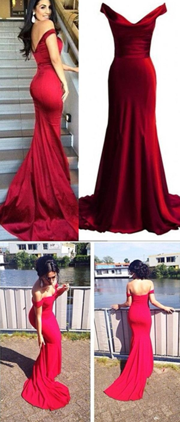 Red Prom Dresses,Mermaid Prom Dress,Satin Prom Dress,Prom Dresses ...